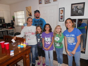 New homeowners--My godson Shane and Jessica and their beautiful girls!