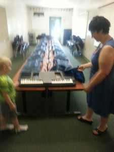 Jett and Miss RoseMary in the Music Room!