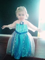 Our very own little Elsa-- Princess Cali!