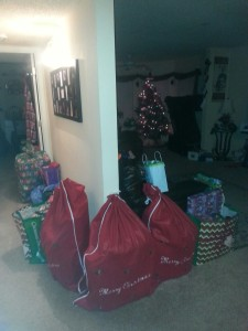 All the presents are wrapped...ready to celebrate CHRISTmas!