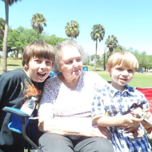 Grandma Betty loved her great grandsons Dawson and Fisher!